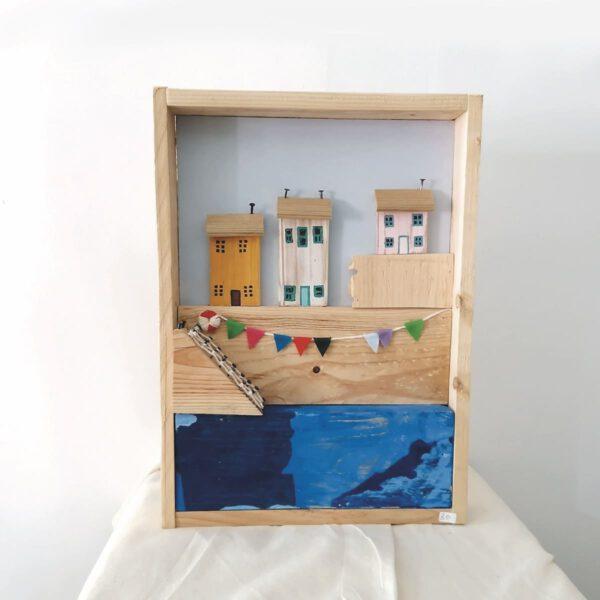 _C_36 Cuadro de casitas de madera