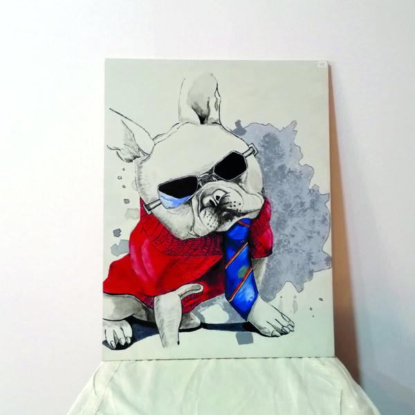 _C_54 Cuadro perrito con gafas