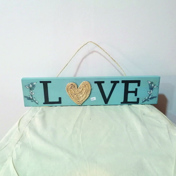 _C_57 Colgador pared Love azul